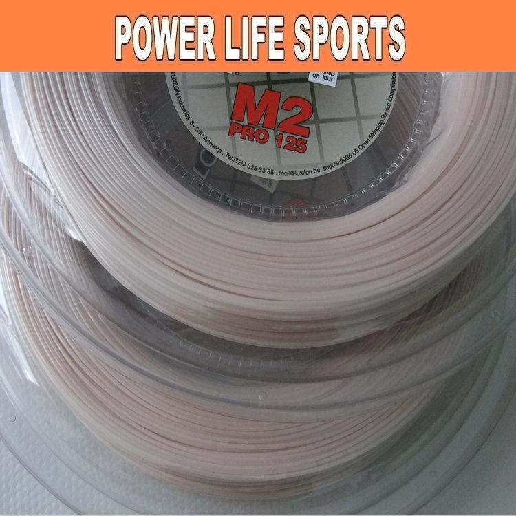 Free shipping - Hot !!! LUXILON M2 pro 125 high performance tennis racket string racquet strings big reel