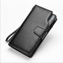 Baellerry Brand Genuine Leather Men Clutch Bag,Business Designer Men Handbag,Multi-card Bit Large Capacity Men Wallet Card Purse