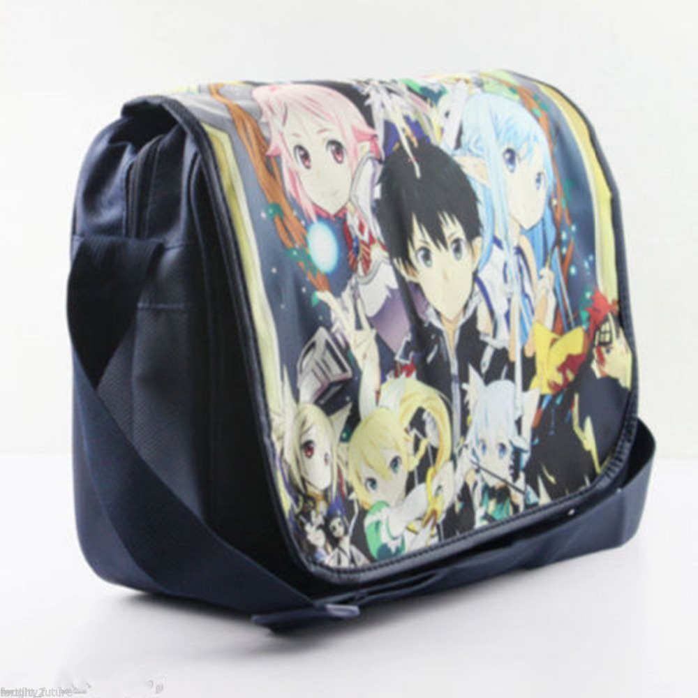 New anime Sword Art Online SAO Asuna Yui messenger shoulder bag(China (Mainland))