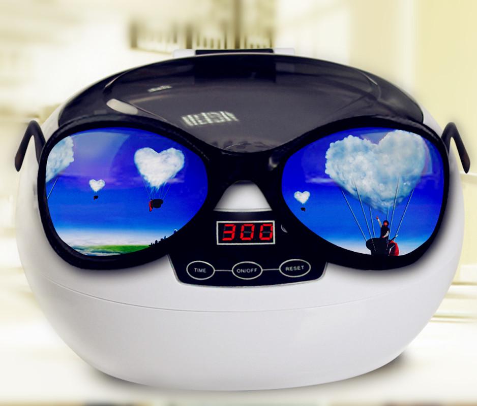 110V 220V 50W Household ultrasonic washing machine/ultrasonic washer for glasses jewelry watches 600ML(China (Mainland))