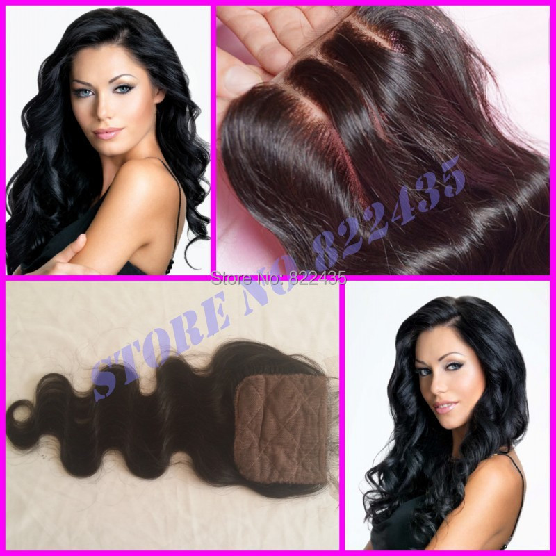 2015 New Discount Cheap Silk Base Lace Closure Mongolian Hair Body Wave Free Parting 3 Part Silk Lace Closures<br><br>Aliexpress