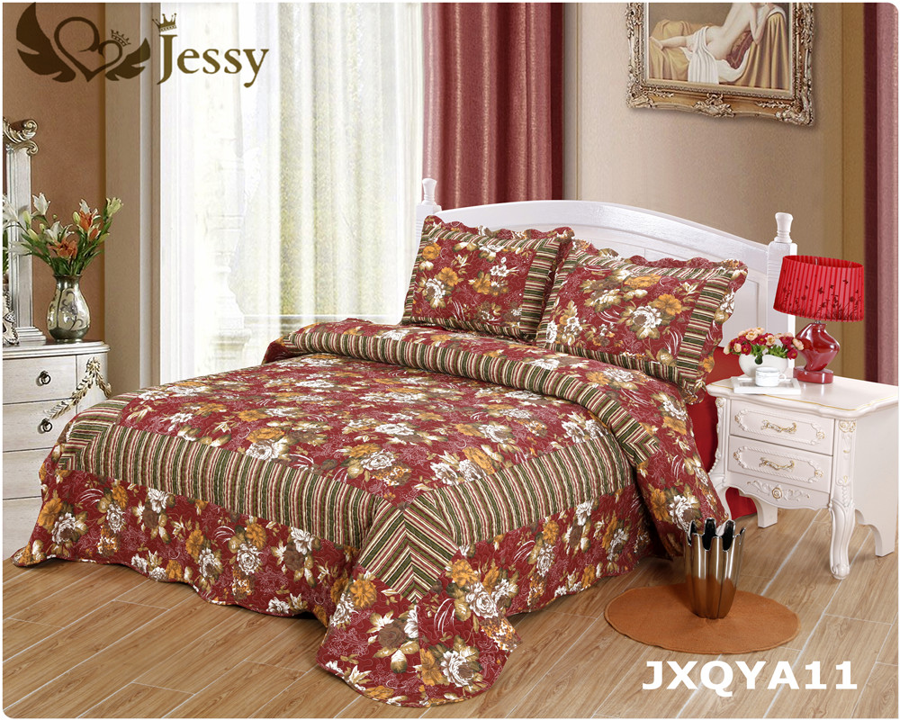 Luxury Quilt Collection Reversible 3-Piece Set Top Choice by Decorators Many Sizes Patterns All Season Weight Machine Washable(China (Mainland))
