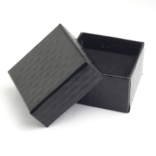 Square shape jewelry earrings rings gift boxes black square carton bow case(China (Mainland))