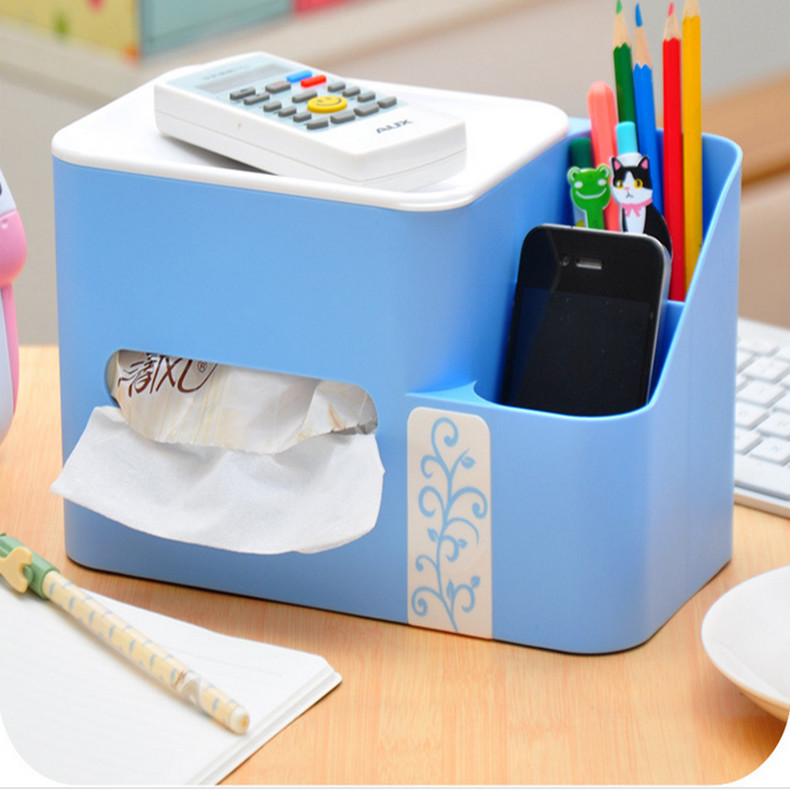 Multifuntion Tissue Storage Box Home and Office Decoration Case Organizers for Stationery Cosmetics Paper Pumping Holder(China (Mainland))