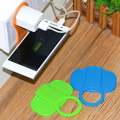 Folding Mobile Cell Phone Charge Holder Wall Charger Hanger Charging Rack Shelf 7C9Z(China (Mainland))