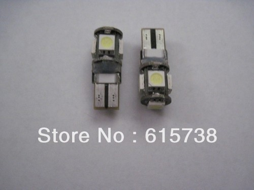 20  pieces T10 194 W5W led 5smd 5050  W204 White LED Canbus Error Free<br><br>Aliexpress