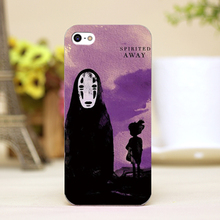 pz0068-96 cartoon Spirited Away Design phone transparent cover cases for iphone 4 5 5c 5s 6 6plus Hard Shell