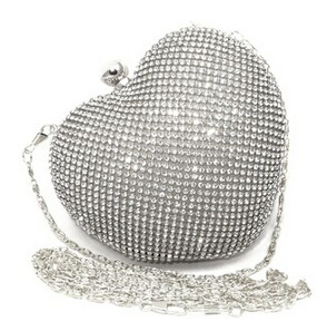 Girls Heart Shape Rhinestone Gold Evening Clutch Bag Women Handbag Dinner Silver  Clutch Purse Chain Shoulder Clutch Purse XA812A – ebuyerseller.com d77351e7f