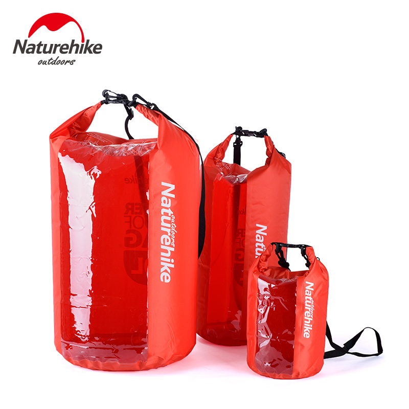 Naturehike Ultralight Waterproof Rafting Bag Dry 3 Colors Outdoor Swimming Nylon Kayaking Storage Drifting Bag 5L 20L 60L(China (Mainland))