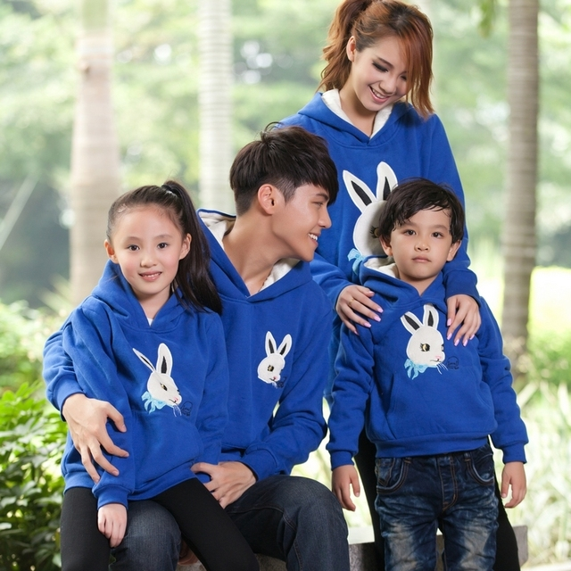 spring and autumn family set family pack mother and son 100% cotton sweatshirt outerwear