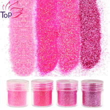 4 Bottle/Set Sequin Dust Gem Nail Glitter Decorations 4 Designs Red Acrylic UV Glitter Powder 3D Nail Art Tips BG049-052(China (Mainland))