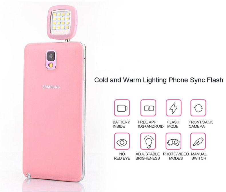 Mobile Phone LED Flashlights Mini Selfie Enhancing Lights For Samsung Galaxy Star Pro S7260 S7262,Galaxy Express II 2 SM-G3815