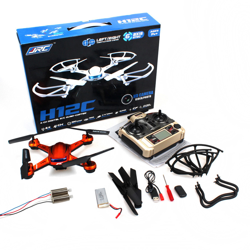 Free Shipping! Original JJRC H12C 24CH Toy Drone Quadcopter 5MP Camera+More 1 Battery+2 Motors
