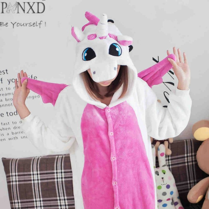 2017 cosplay costumes PANXD flannel animal pajamas women men cartoon onesie casual sleepwear pijama - atuwill Official Store store
