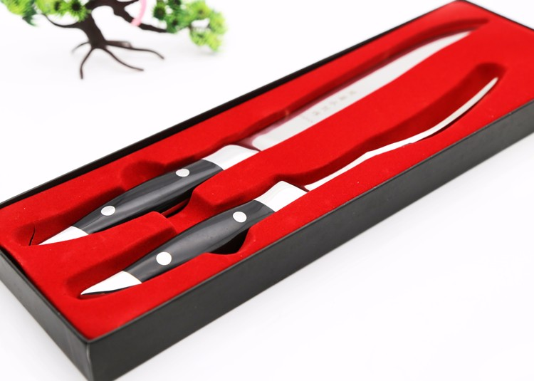 Buy 2016 New Black Laguiole Style Stainless Steel Steak Knives w/ Wooden Base Classical Kitchen Cutlery Set Flatware cheap