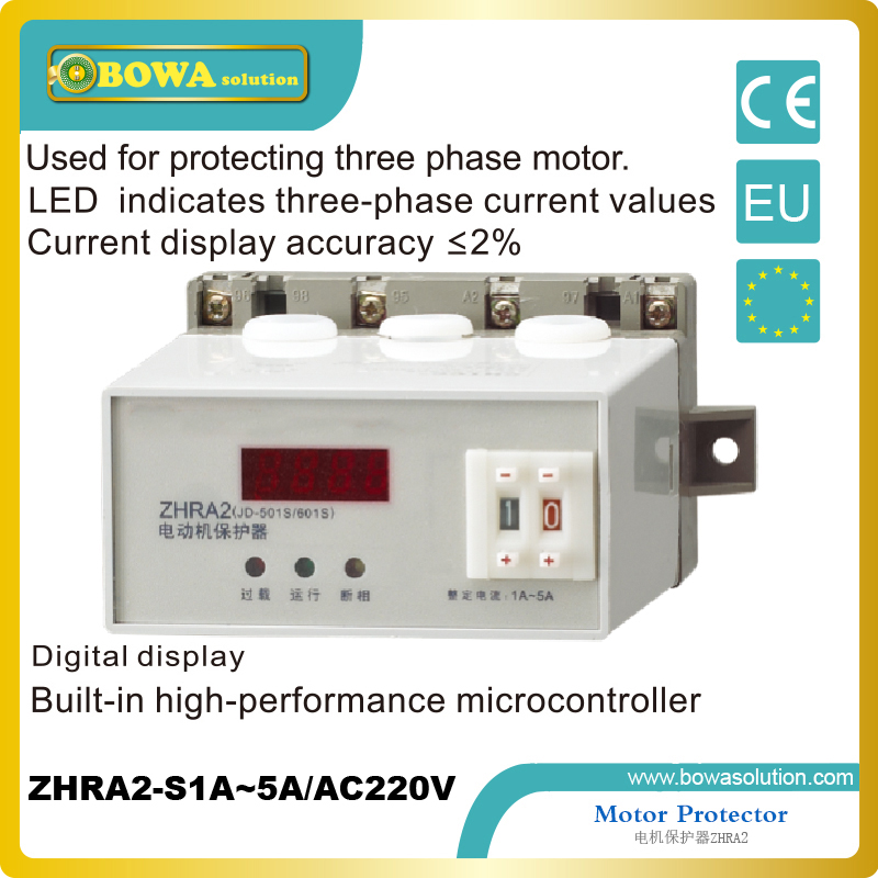 Motor Protector for protecting three phase motor applied in reducer ZHRA2-N1A~5A/AC220V with digital display<br><br>Aliexpress