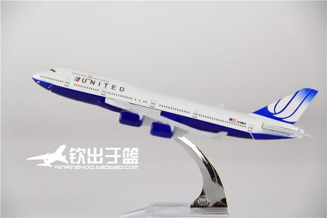16cm 1:400 Metal Airplane Plane Model Air United boeing B747 700 Airlines Aircraft Model Diecasts Toy Vehicles Free Shipping
