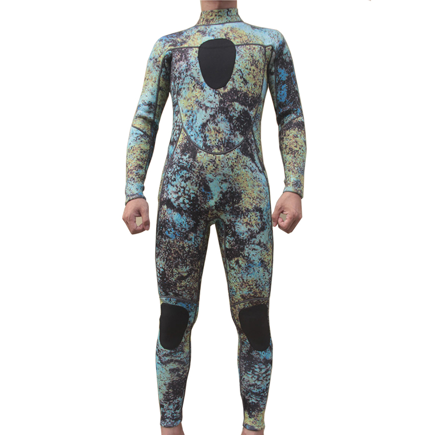 scuba diving wetsuit 3mm suits for men spearfishing CAMO neoprene swimming surfing wet suit swimsuit equipment Mosaics full body(China (Mainland))