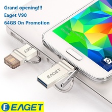 Best Pendrive!EAGET V90 OTG 16GB 32GB 64GB Usb Memory Stick Flash Pen Drive OTG Pendrive 3.0 USB Stick 32G OTG USB Flash Drive(China (Mainland))