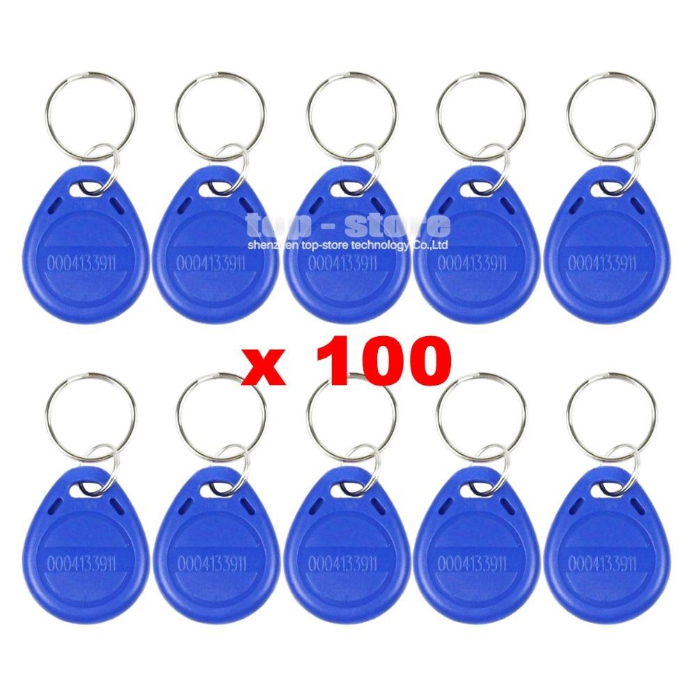 100pcs/lot 125Khz RFID Proximity ID Card Token Tags Key Keyfobs For Access Control System Free Shipping(China (Mainland))