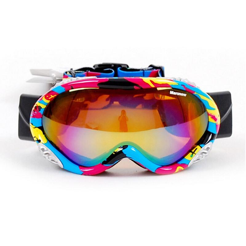 Winter Sports Ski Snowboard Snowmobile Anti-fog Dual Double Lens Motorcycle Motocross ATV Off-Road Coloured Snow Goggles Eyewear(China (Mainland))
