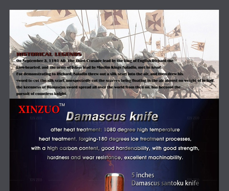 """Buy 2016 HOT 5"""" santoku knives Japanese VG10 Damascus steel chef knife kitchen knife fruit knife color wood handle FREE SHIIPPING cheap"""