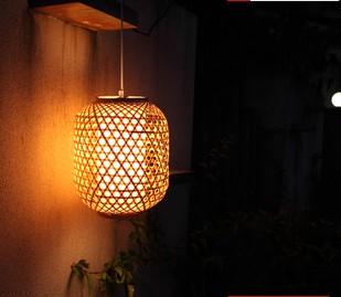 Rustic bamboo restaurant lamp pendant light living room lights bedroom lamp romantic single-head dining table lamp(China (Mainland))