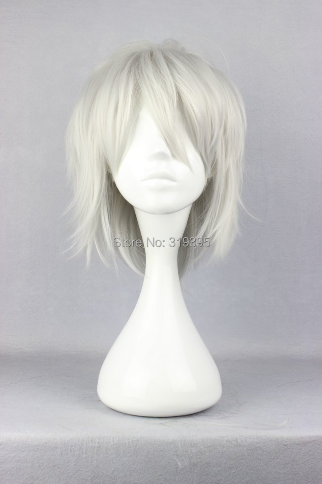 Cosplay Costume Wigs DRAMAtical Murder DMMD  Clear Short Party Hair 30cm silver gray<br><br>Aliexpress