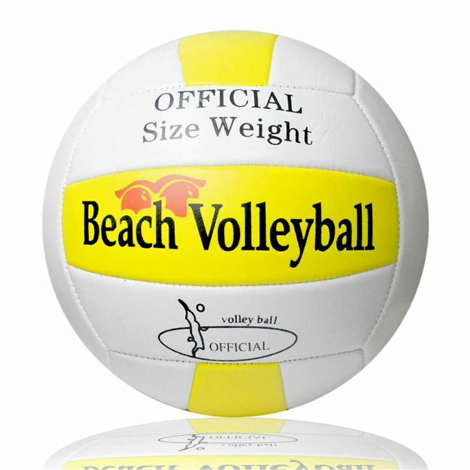 Yellow With White Size 5 Beach Volleyball Ball Volei PU Leather Soft Touch Volleyball For Training&Match Volley Ball(China (Mainland))