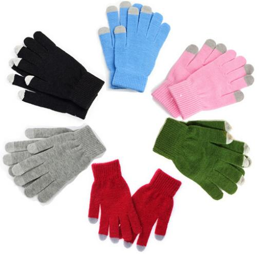 2015 HOT SALE Winter Unisex Touch Screen Stretchy Soft Warm Winter Gloves for Mobile Phone Tablet Pad(China (Mainland))