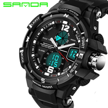 Buy SANDA Fashion Watches Men's Women's Lover Sports Watches Analog Quartz Watches Brand Waterproof Digital Watches Montre Homme for $10.30 in AliExpress store