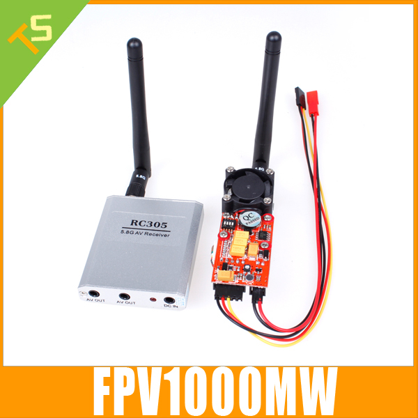 Boscam FPV 5.8G 5.8Ghz 1W 1000MW wireless AV Transmitter and Reciever Combo for rc quadcopter dji phantom 7KM Range(China (Mainland))