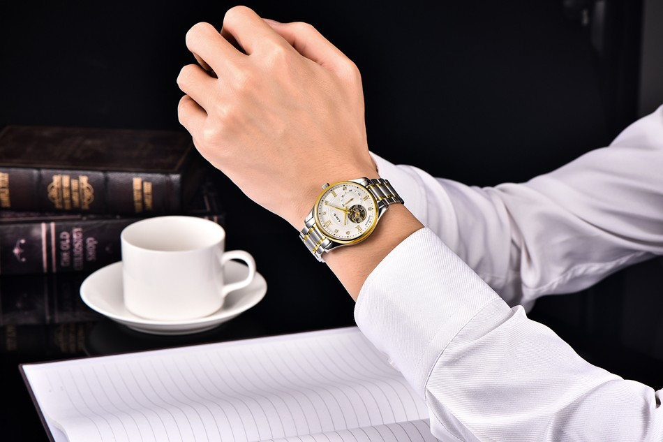 LIGE 2016 Mens Automatic mechanical Watches Top Brand Luxury Full steel Watch Men Dive 50M Business Wristwatch relogio masculino