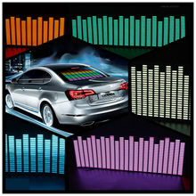 90*25 cm 5 Colour Music Rhythm EQ Car Sticker Music Equalizer on Car Windshield LED Sound Music Activated EL Sheet Glue Stickers(China (Mainland))