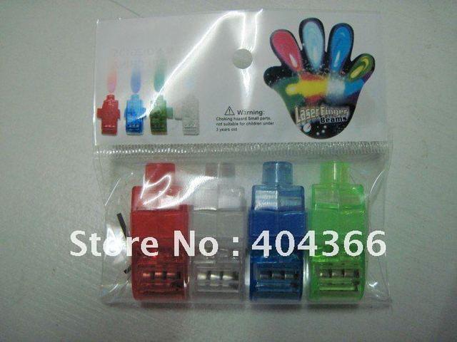 500 pcs/lot (125 packs) Colorful Finger Lamp Laser Led Finger Lights Halloween Light Cristmas Festival Gift (OPP bag)