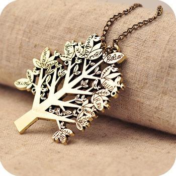 Sunshine christmas tree letter necklace  X194