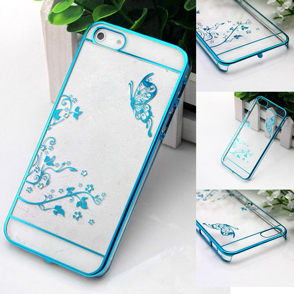 Luxury Crystal Rhinestone Case iPhone 5 5S 6 6plus Diamond Gold Slim Shining Bling Electroplating Drill Phone case - Xinghai store
