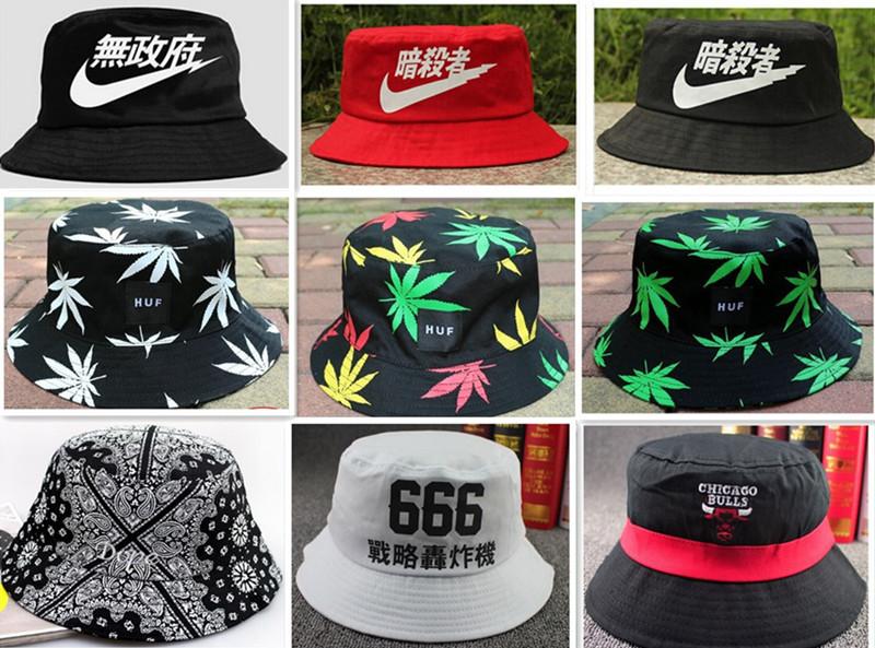 2015 the new fashion summer sun hat for women men bucket hats print dome fishman cool caps sale Bob(China (Mainland))