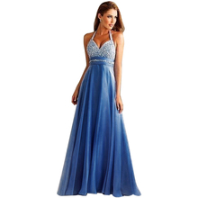 Fashion Women Sleeveless V-Neck Long Sequin Bodycon Evening Gowns Party Dresses Female Sexy Draped Maxi Dress Size S M L(China (Mainland))