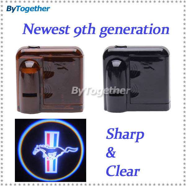 car logo projector welcome ghost shadow door light step emblem badge for Ford Mustang V6 Premium Convertible GT Shelby GT500(China (Mainland))