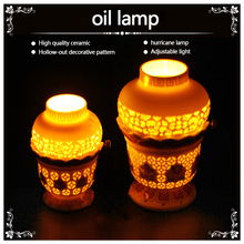 High Quality Oil Lamp, Used After Fill Of Butter Lamp Oil, Two Sizes To Choose, Ceramic & Alloy Material, Buddha Supply(China (Mainland))