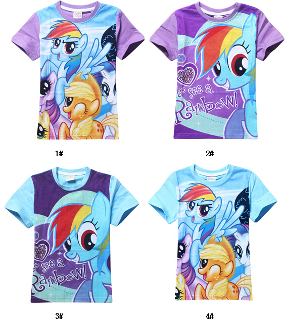 100% cotton summer cartoon my little t shirt for girl pony clothes childrens t-shirts<br><br>Aliexpress