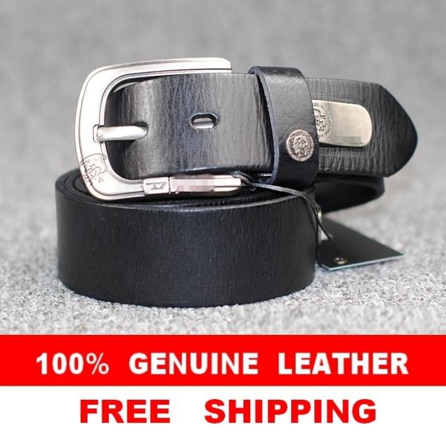 100% Genuine Leather New 2014  Men Vintage Belt Brand Name Punk Rivet Man Hip hop Metal Male Wide Strap Cinto Ceinture  MBT0049