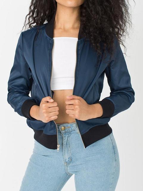 5A18 мода 2015 женщин бейсбол карман на молнии куртка v-образным вырезом с длинным ...