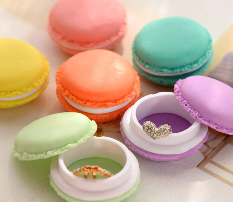 Selljimshop 6 PCS Portable Plastic Mini Macarons Box Earphone SD Card Bag Storage Case Small Jewelry Carrying Pouch Organizer(China (Mainland))