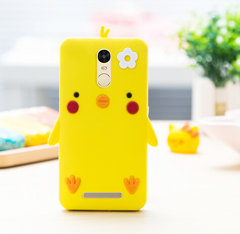 2016 New arrival soft tpu silicon 3d cute cartoon chick popular back cover case protective for xiaomi redmi note 3 free shipping(China (Mainland))