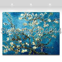 Blossoming Almond Tree By Van Gogh Oil Painting Printed On Canvas Home Art Decor(China (Mainland))
