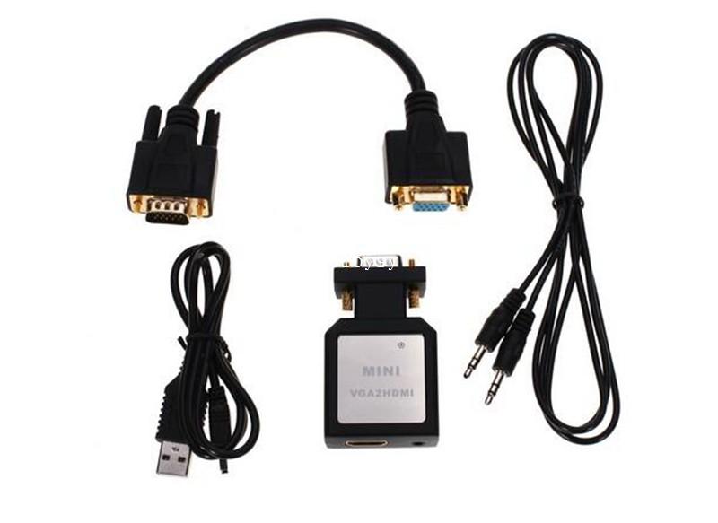 HDV-M330 Mini VGA To HDMI Converster VGA to HDMI Convert Box Video Adater Converter for laptop and pc(China (Mainland))