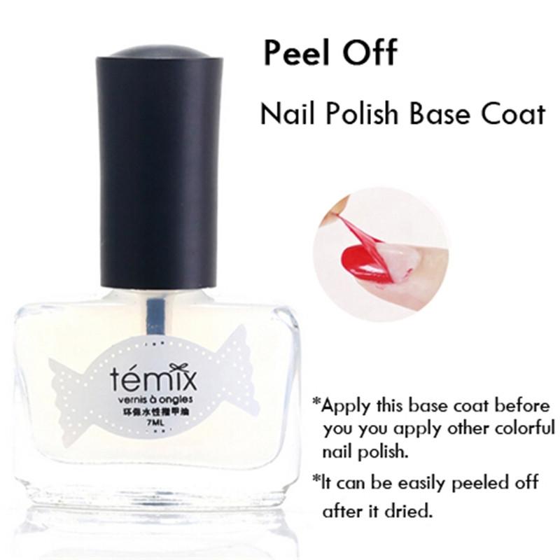 1Pc Transparent Nail Polish Base Coat Healthy Rapid Dry Easy Peel Off Nail Polish(China (Mainland))