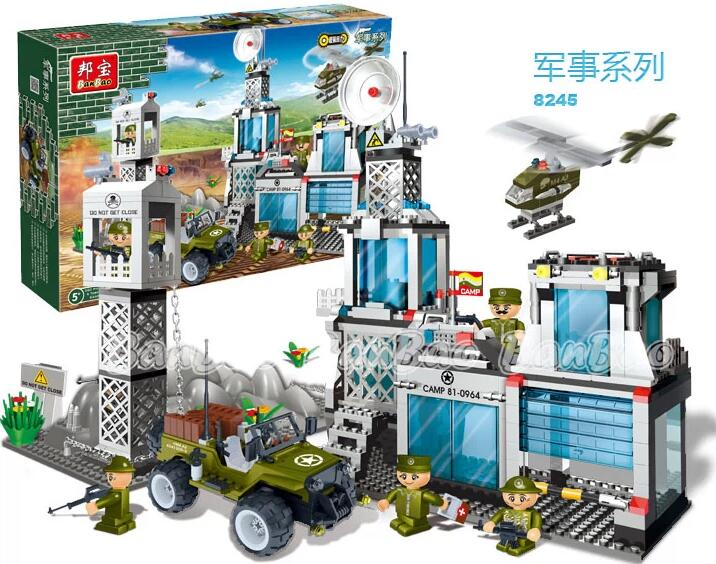 building block set compatible lego new integrated military command 3D Construction Brick Educational Hobbies Toys Kids